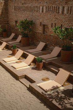 Gallery of Baja Club Hotel / Max von Werz - 12 Colonial, Terrasse Design, Pergola, Mexican Hacienda, Patio Central, Destin Hotels, Terrazo, Timber Beams, Interior Work