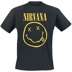 """Nirvana T-Shirt Manches courtes """"Smiley"""" noir • Disponible en ligne • EMP"""