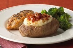 Twice-Baked Potatoes with Bacon recipe 370 cals