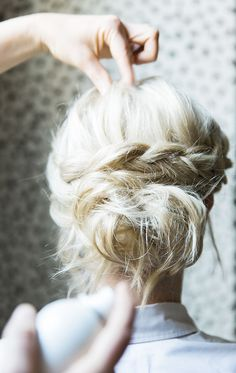 Dutch Braid Crown Tutorial, Waiting on Martha Kathryn McCrary Photography click now for more info. Braided Hairstyles For Wedding, Short Wedding Hair, Box Braids Hairstyles, Pretty Hairstyles, Wedding Updo, Wedding Beauty, Summer Wedding, Wedding Headpieces, Updo Hairstyle