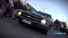 video clip of PRO TOURING Chevy Chevelle Big Block   SOUND! grey rushforth 5 star billet wheels cruising