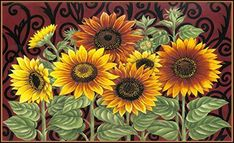 Bring warmth into your home by using sunflower home décor. Sunflower home decorations are beautiful  representations of floral home décor.  Best used spring, summer and fall sunflower decorative accents make any  space look lovely. Especially great for  decorating kitchens, living rooms and bathrooms with. #sunflower #floral #floraldecor      Toland Home Garden Sunflower Medley 18 x 30-Inch Decorative USA-Produced Standard Indoor-Outdoor Designer Mat 800108