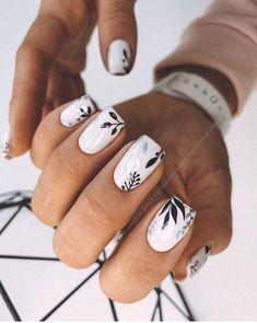 Cute Acrylic Nails, Acrylic Nail Designs, Stylish Nails, Trendy Nails, Short Square Nails, Short Nails, Nagellack Design, Manicure E Pedicure, Manicure Ideas