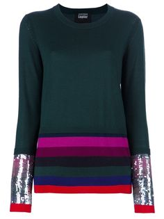 Forest green merino wool sweater from Markus Lupfer.