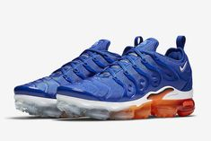 592bc309d0c0 The Nike Air VaporMax Plus Game Royal (Style Code  comes dressed in Game  Royal White-Black-Total Orange with a release date set for Fall