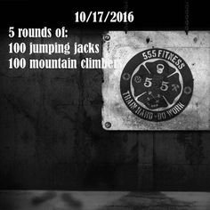 555 Fitness: Jumping Jacks and Mountain Climbers.