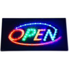 """Bright Animated LED Multi Colorful Open Store Shop Sign 19x10"""" Display neon #Zh"""