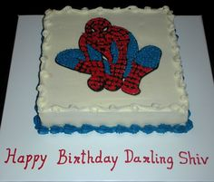 Spiderman Cake For Shiv cakepins.com