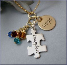 Hand Stamped Hope for Autism