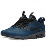 best sneakers a92f3 a0817 Buy the Nike Air Max 90 Mid Winter in Squadron Blue   Black from leading  mens fashion retailer END. - only Fast shipping on all latest Nike products.