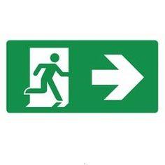 #Pictogrammen / ISO 7010 / Redding en Evacuatie / #Nooduitgang rechts