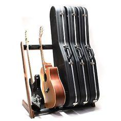 Walnut Guitar Case Stand   Etsy Guitar Storage, Guitar Rack, Guitar Stand, Wood Rack, Beautiful Guitars, Banjo, Acoustic Guitar, Instruments, Etsy