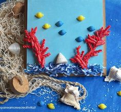 fish and corals with Barilla pasta