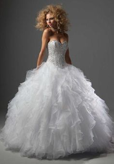 Pretty in the blue but i would totally get married in the white!! Vizcaya 88001 at Prom Dress Shop