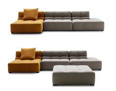 Sofa tufty time 15 collection b b italia design for Canape urquiola