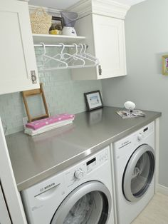For smaller side of laundry room!