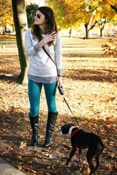 fall activities boston, boston terrier, fall outfit ideas, loeffler randall red leopard, j.crew checked shirt, rich and skinny peacock jeans, metallic foil sweatshirt, frye heeled boots, boston style blog, boston fashion blog, boston fashion blogger, boston style blogger, jessye aibel, citytonic