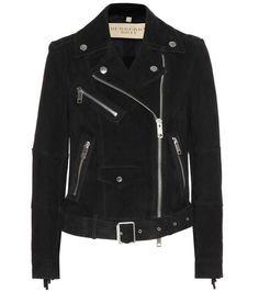 Burberry Arnstead fringed suede biker jacket