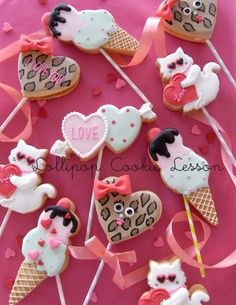 Lollipop cookies for valentine's day
