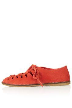 KEEP Tie Up Peep Shoes