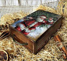 Купить Коробка для конфет - комбинированный, новогодний подарок, Новый Год, короб для хранения, коробочка, короб