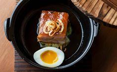 Apple-Smoked Pork Belly, Braised Cabbage, Egg - The House of Ho, Soho Vietnamese Cuisine, Vietnamese Restaurants, Braised Cabbage, Cantonese Food, Food Stall, Smoked Pork, London Restaurants, Pork Belly, Chef Recipes