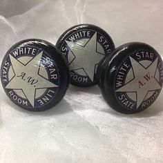 nautical white star line door or drawer knob by surface candy | notonthehighstreet.com  £6.95