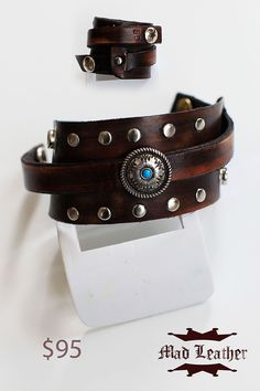 Western Leather Cuff  http://www.etsy.com/shop/madleather