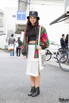 would look better w/o the hat, but still cute ... Akari, 18 years old, student | 27 May 2015 | #Fashion #Harajuku (原宿) #Shibuya (渋谷) #Tokyo (東京) #Japan (日本)