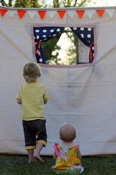 how to make a backyard puppet theater | kojodesigns