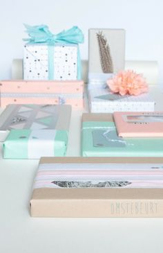 Wrapping tips Pastel packing Tissue paper