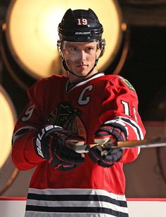 Captain Serious during NHL Media Day 2015