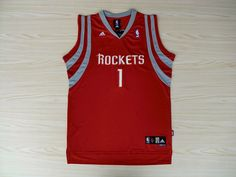 67e445ec5 Adidas NBA Houston Rockets 1 Tracy McGrady Swingman Red Jersey