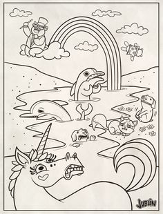 Lisa Frank Coloring Page By Chunkysmurfdeviantart On DeviantArt Kids PagesColoring SheetsColoring Book PagesFree