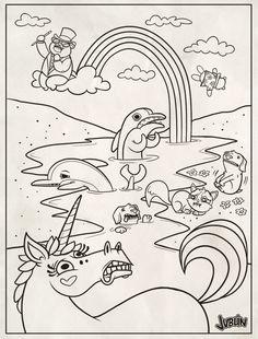 lisa frank coloring page by chunkysmurfdeviantartcom on deviantart