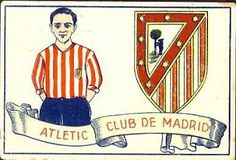 Atletico Madrid kit card for Image Foot, Club, Ronald Mcdonald, Football, Baseball Cards, Sports, Fictional Characters, Chocolates, 1920s