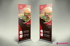 Fast Food Roll Up Banner - v008 by Creatricks on @creativemarket