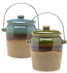 1-Gallon Glazed Earthenware Compost Crock so far, my favorite.
