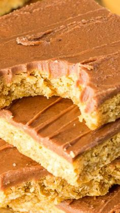 Chocolate Frosted Peanut Butter Bars ~ a grade school lunch dessert favorite! Peanut Butter Squares, Peanut Butter Bars, Bar Cookies, Cookie Bars, 17 Day Diet, Eyes Emoji, Best Brownies, Rolled Oats, Chocolate Frosting