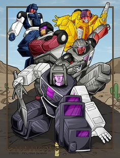 Stunticons coming at YOU by ~WaywardInsecticon on deviantART