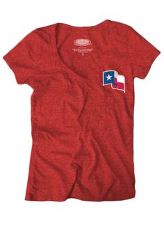 Texas (TX) Rangers Women's Tri-Blend V-Neck Shirt w/ Swarovski Crystals by Majestic Threads $44.99