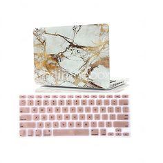 """2 en 1 de mármol recubierto de goma cubierta del estuche rígido cubierta del teclado para el aire del macbook 11 """"retina 13"""" / 15 """" - USD $20.99"""