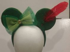 Peter Pan Inspired Mickey Ears/Disney by BakesBooksandMore on Etsy