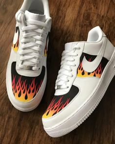 Custom nike shoes - Behind The Scenes By tommytrillions – Custom nike shoes Cute Nike Shoes, Cute Sneakers, Nike Air Shoes, Shoes Sneakers, Custom Painted Shoes, Custom Shoes, Nike Custom, Custom Af1, Jordan Shoes Girls