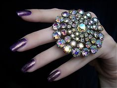 Orly Oui. Love the nails, especially love that ring!!