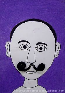 Dali's many moustaches--haha the kids would love this!
