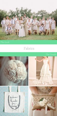 Look for organic and sustainable fabrics when dressing yourself and your wedding party.   Hemp, bamboo, linen, and organic cottons and wool are all comfortable and stylish options that you'll want to wear again# barcelonawedding
