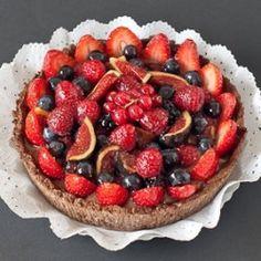 Fruit Tart with Chocolate Crème