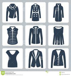 vector-women-s-clothes-icons-set-jacket-overcoat-down-padded-coat-vest-sweatshirt-blouse-top-suit-jacket-jumper-34988216.jpg (1300×1390)