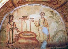 Jésus et la Samaritaine, Catacombe, Rome, IVe s